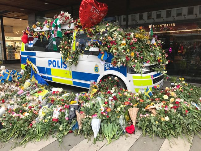 In Stockholm tonight. Flower Multi Colored Outdoors Police Police Car Openstockholm Resist