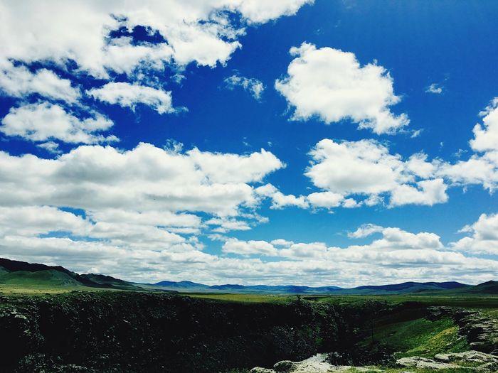Landscape Sky Beauty In Nature Cloud - Sky Mountain Blue Countryside Majestic