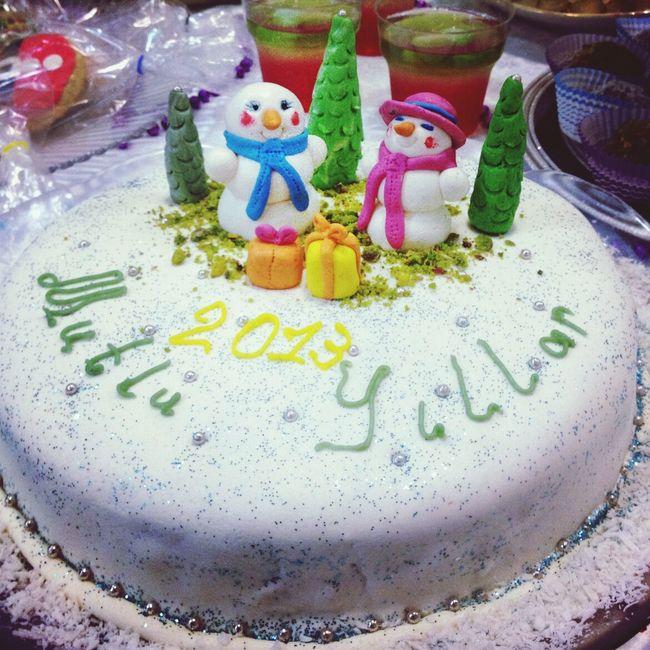Tiramisu Cake New Year . Homemade Food. Snowman Turkey. Giresun