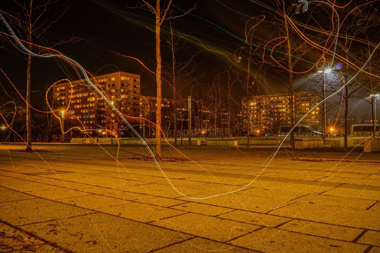 The City Light Night Playground Outdoors No People Illuminated Sky Long Exposure Light Nightphotography