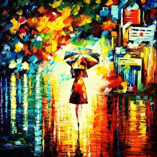 Leonid Afrimov Beautiful Colors Love Art