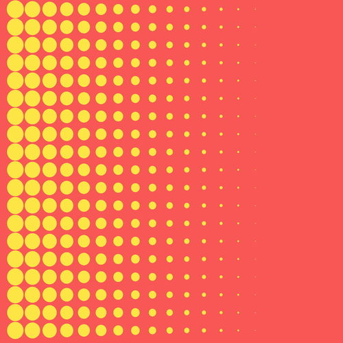Carbon Circle Creative Decor Digital Effect Modern Inside... Pattern Point Rose Pink Shape Style Template Texture Yellow Flower Graphic Abstract Art Background Comic Design Dot Halftone Simple Wallpaper