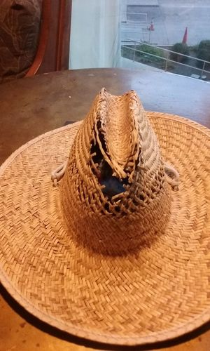 Close-up Hat No People Straw Hat Tattered Hat