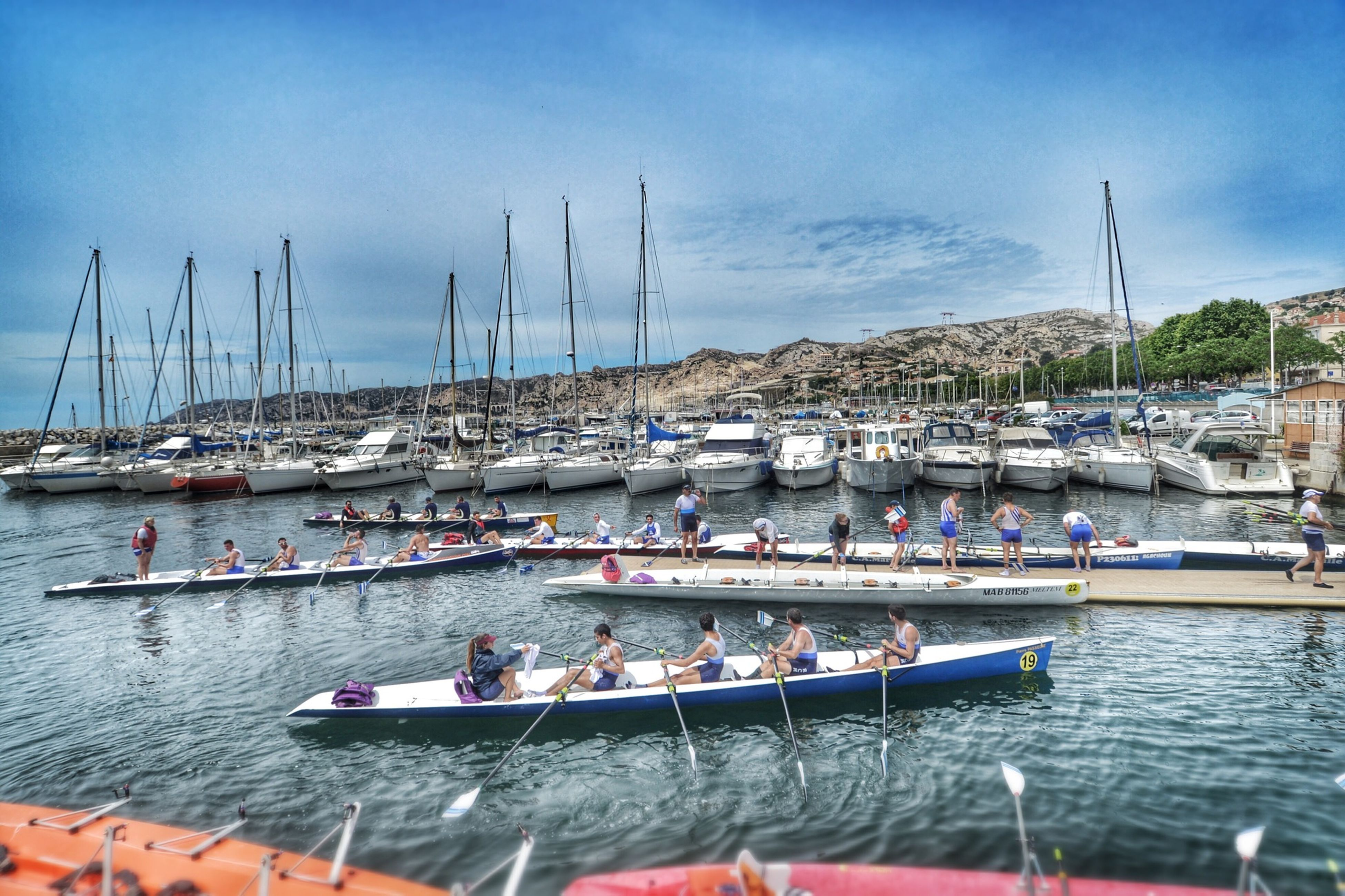 nautical vessel, transportation, boat, moored, mode of transport, water, sky, mast, harbor, sea, sailboat, waterfront, cloud - sky, travel, marina, nature, yacht, day, cloud, outdoors