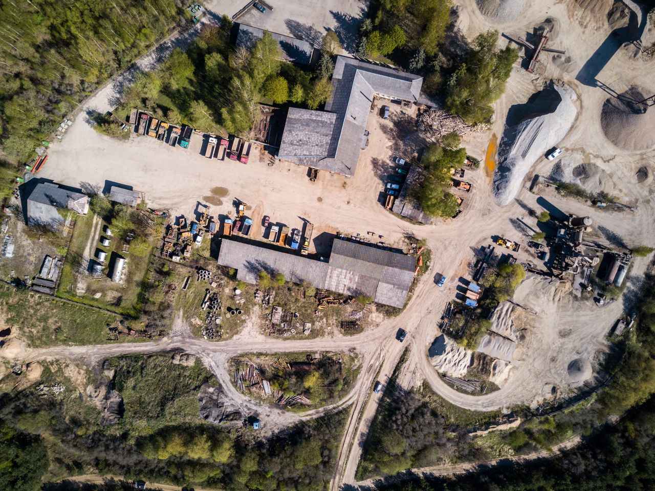 Abandoned old quarry with old heavy vehicles left outside Abandoned Aerial View Architecture Bird View Building Exterior Built Structure Car Chaotic DJI Mavic Pro Drone  Dronephotography Heavy Vehicle High Angle View Industry Industy Junkyard Mavic Pro Mill Old Plant Quarry Rusty Rustygoodness Transportation Vehicles