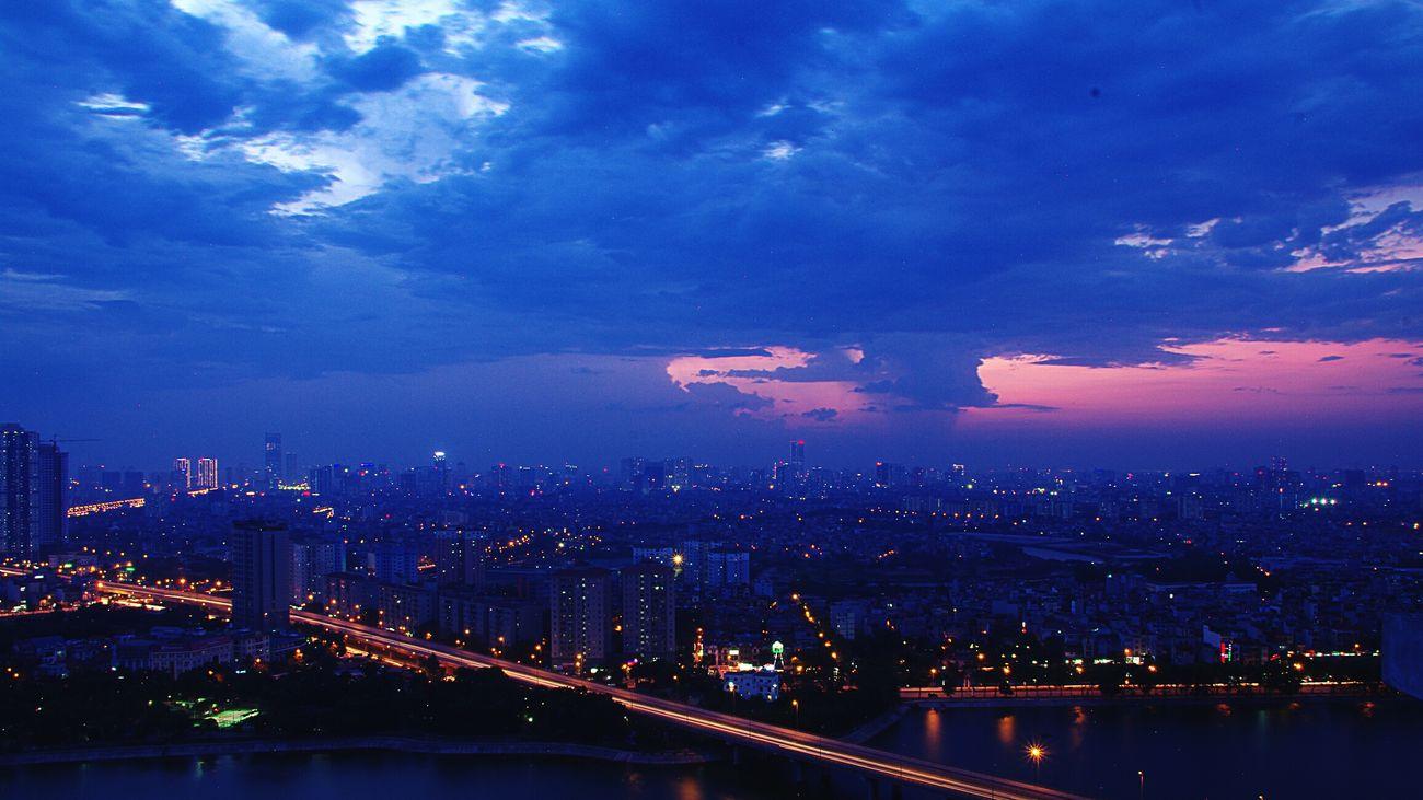K H U T A O S Ố N G Linhdam HDR Sunset Home Hanoi Hanoian Hanoinight