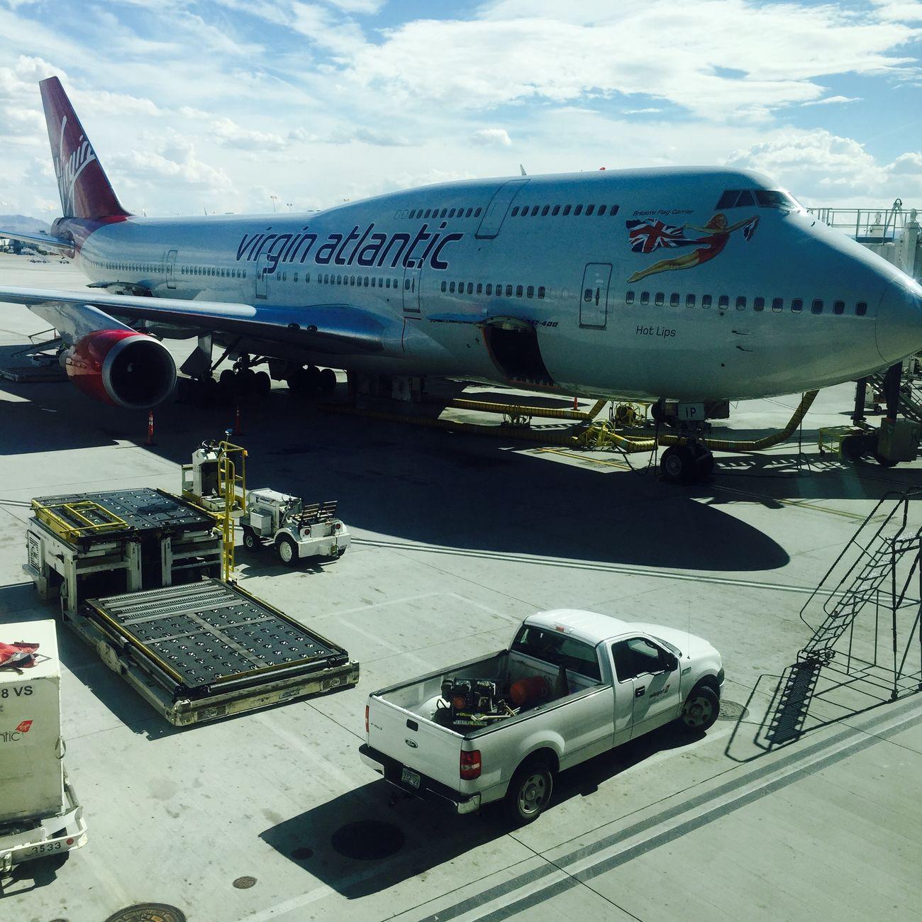 Virgin Atlantic Plane Going Home Leaving Las Vegas Airport