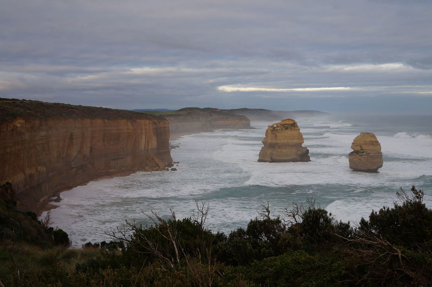 Australia Australia Beauty In Nature Cliff Day Landscape Nature No People Outdoors Rock - Object Rock Formation Scenics Sea Sky The Great Ocean Road, Victoria Tranquil Scene Tranquility Water Been There. Done That.