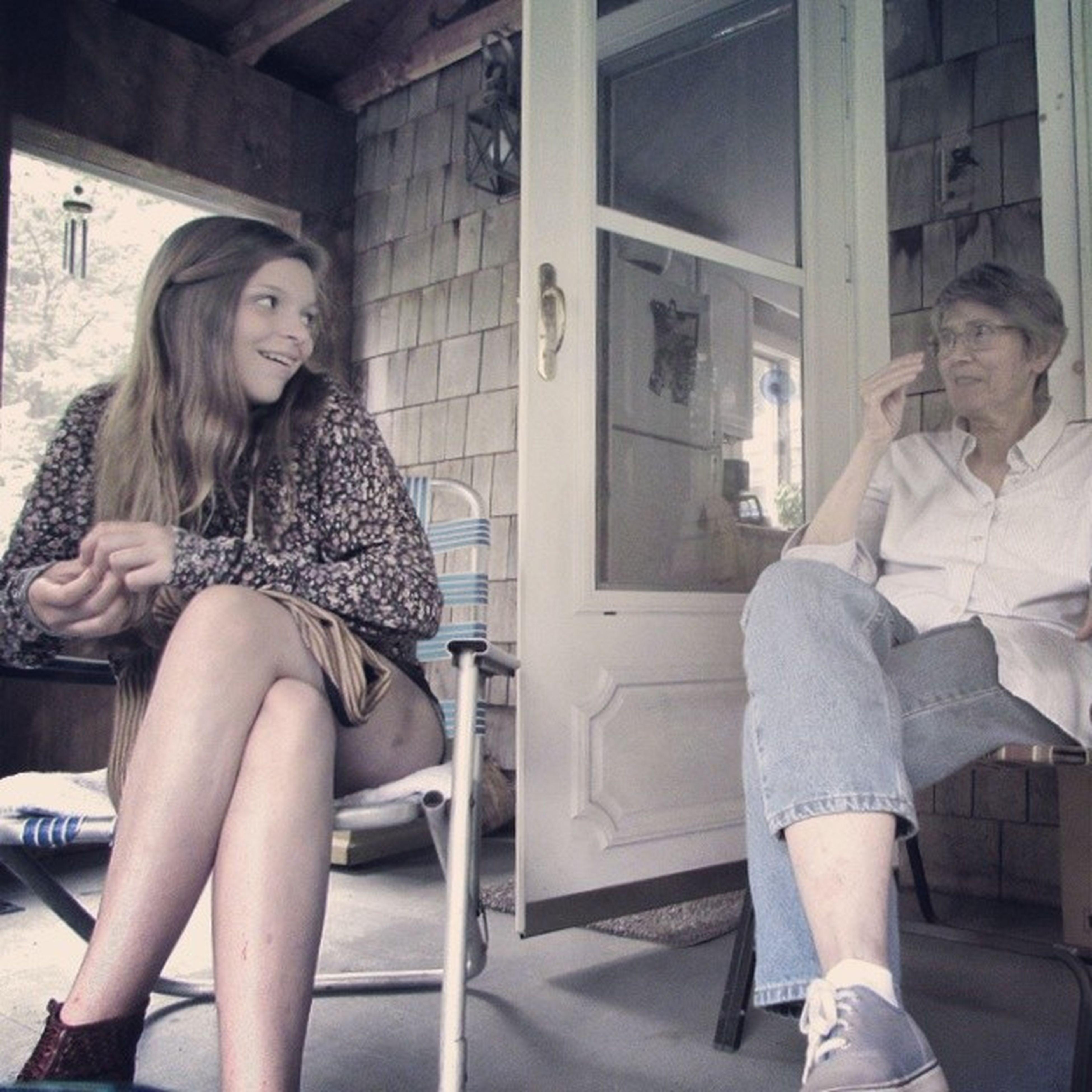Oldfasioned Talk OnThePorch Nocellphones just actualcameras reallife storytelling
