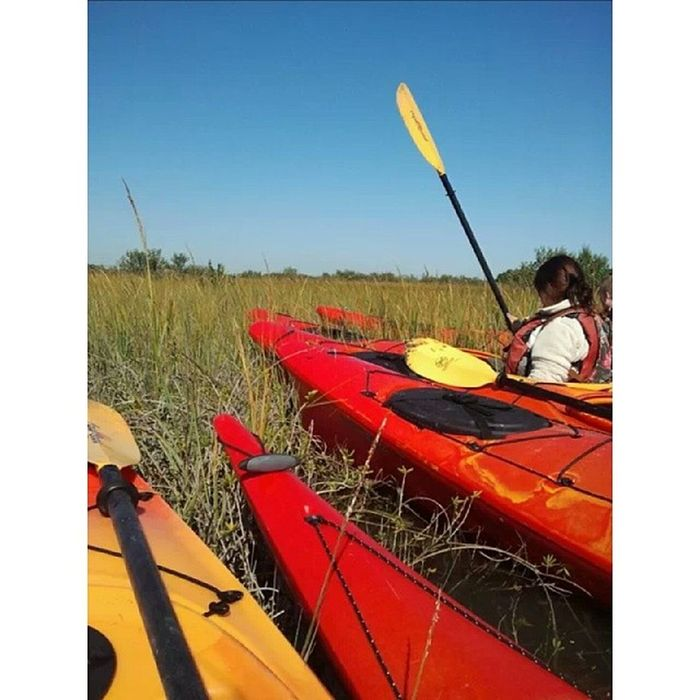First time ever Kayaking. TBT  FlaglerCollege Kayaking