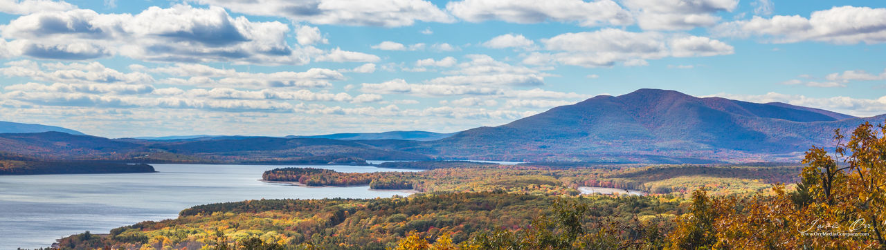 The NYC Reservoir in Woodstock, NY Catskill Mountains Clouds Landscape Mountians Panorama Reservoir Sky Trees Water Woodstock