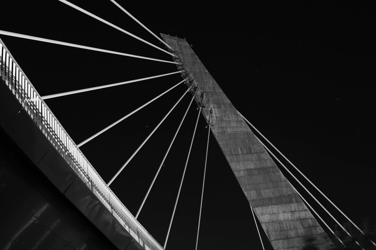 Architecture Nightphotography Nikonphotography Marghera Bridge - Man Made Structure Night Taking Photos Blackandwhite Eyemphotography Artphotography EyeEm Best Shots - Black + White Monochrome