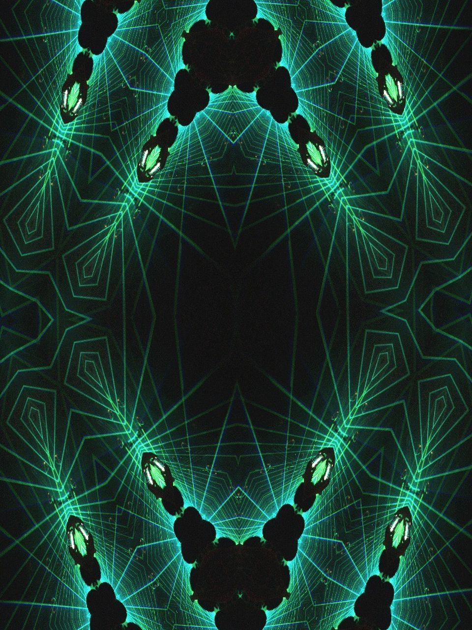 pattern, green color, illuminated, abstract, symmetry, real people, night, cyberspace, outdoors