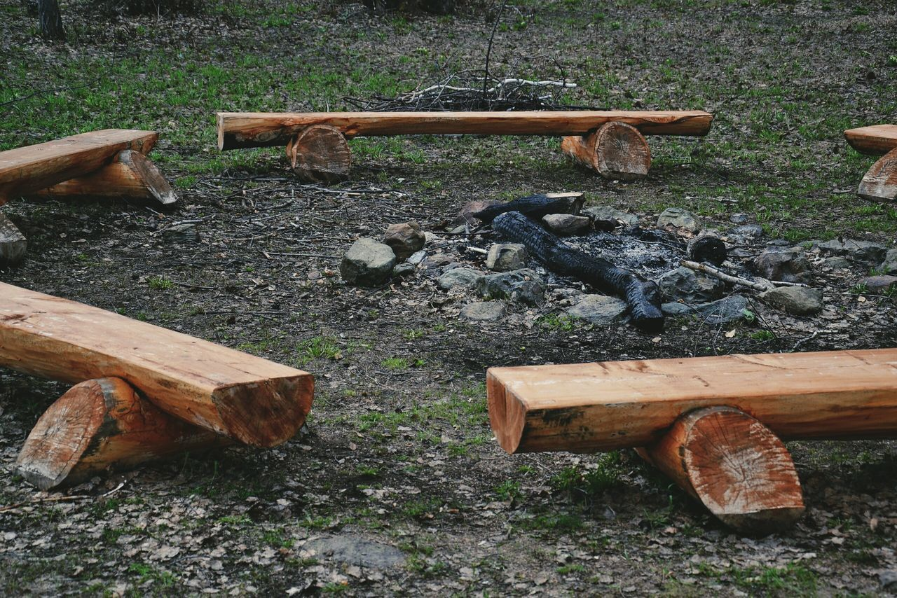 wood - material, abandoned, no people, log, day, outdoors, deforestation, field, rusty, close-up, forestry industry