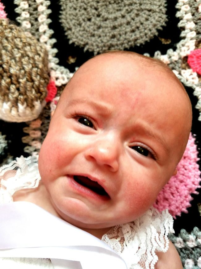 Sad Baby Headshot Looking At Camera Close-up Portrait Toddler  Innocence Person Day Pink