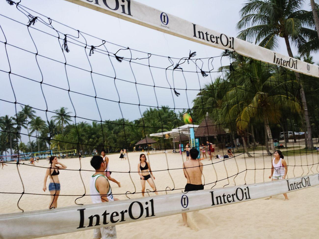beach volleyball. sentosa Singapore
