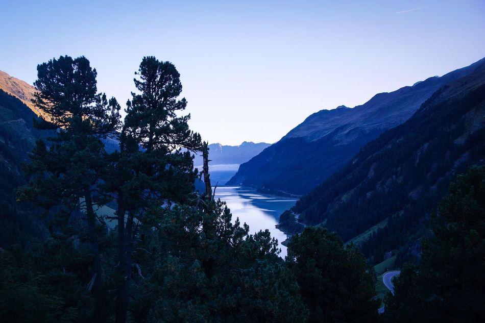 Kaunertal, Austria Alps Austria Mountains Lake Trees Morning