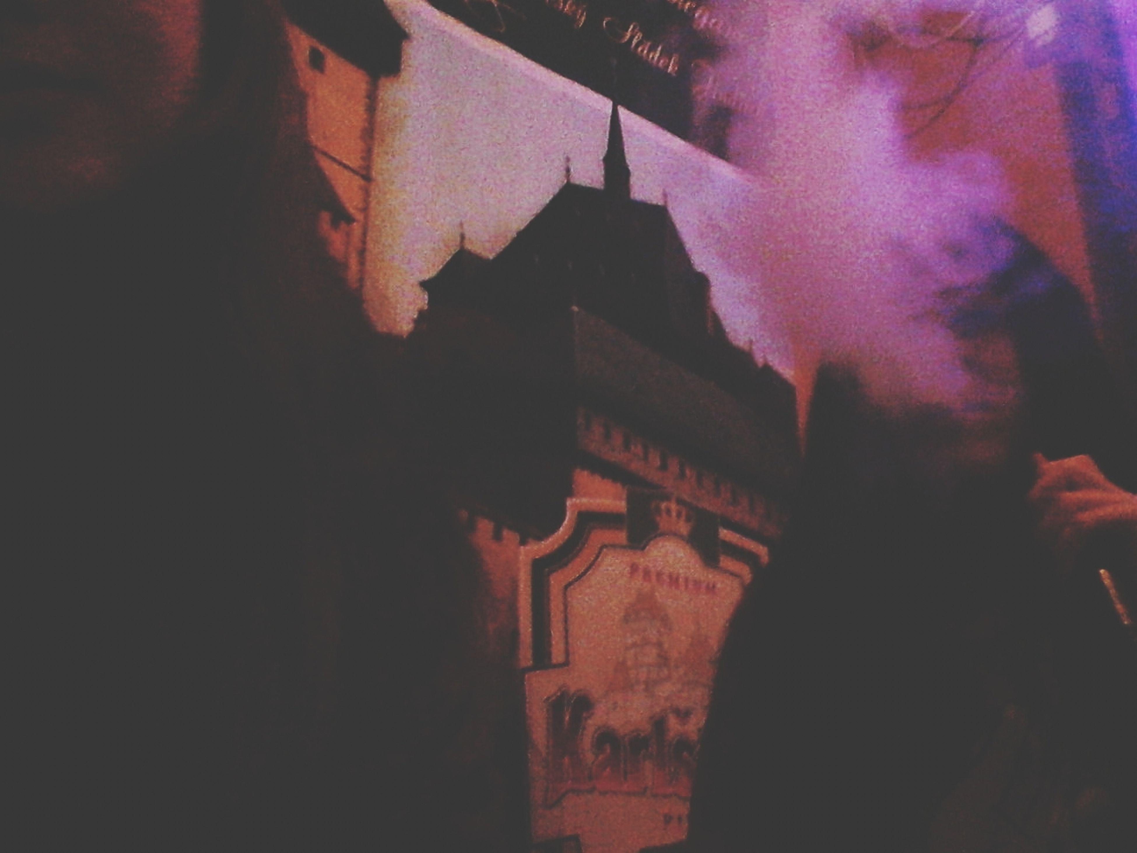 architecture, built structure, building exterior, night, illuminated, art, lifestyles, leisure activity, religion, art and craft, creativity, men, spirituality, human representation, place of worship, silhouette, outdoors, dark