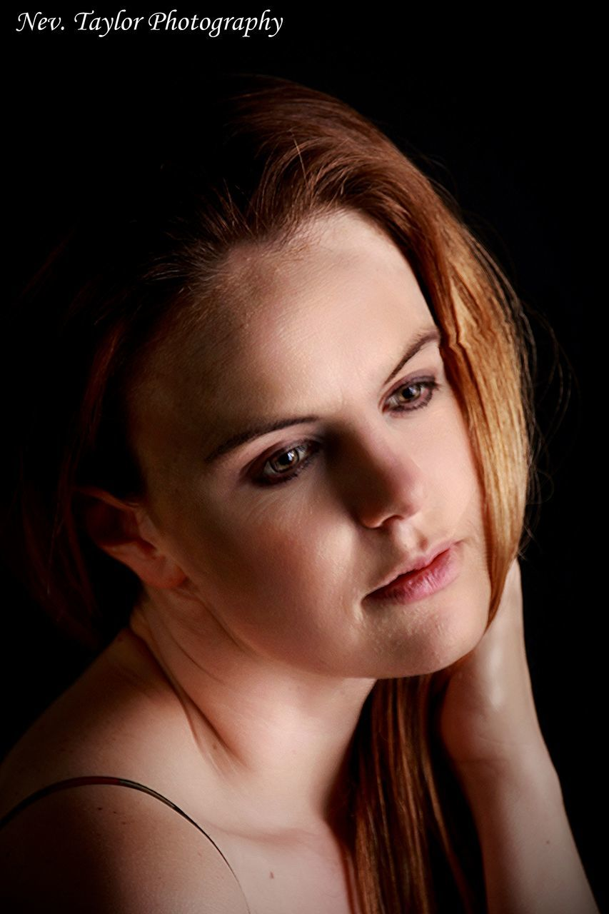 young adult, one person, black background, young women, studio shot, real people, portrait, close-up