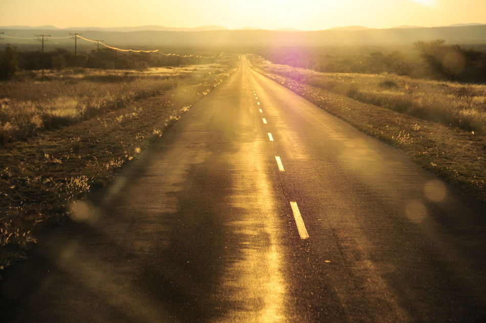 Asfalt Beauty In Nature Day Illuminated Nature No People Outdoors Road Road Roud Scenics Sky Sunset Telegraph The Way Forward Way To Go Home Yellow