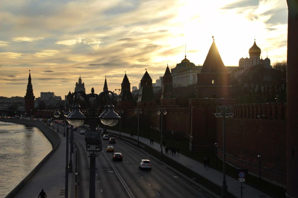 City Architecture Sky Road Moscow Kremlin