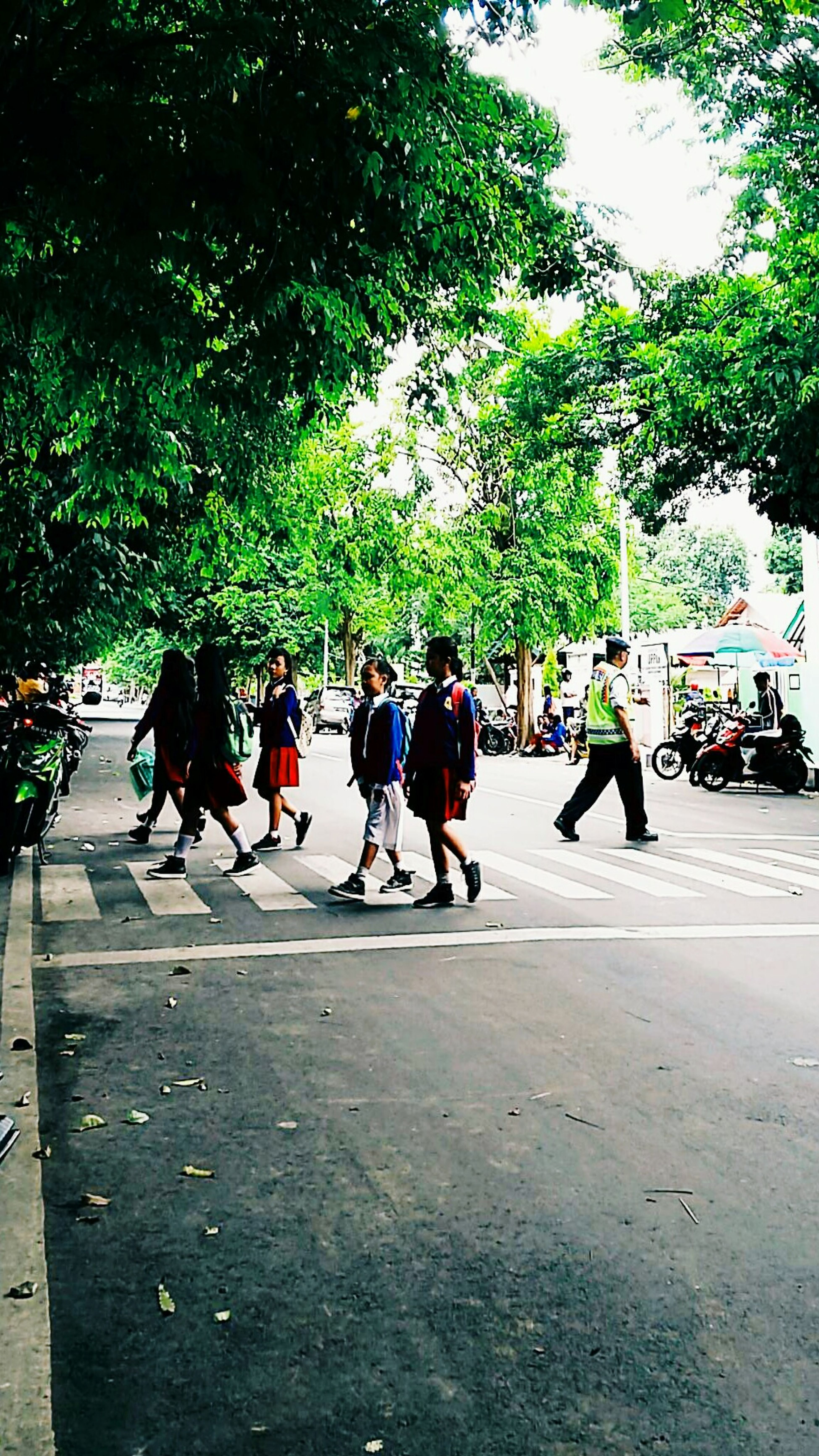 Street Road Small Group Of Child ..