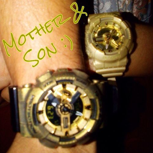 "My version of ""Mother and Son""... Gshock_Lover Likemotherlikeson ❤️❤️❤️"