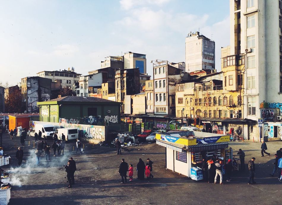 Long shadows Hello World Urban Landscape Istanbul