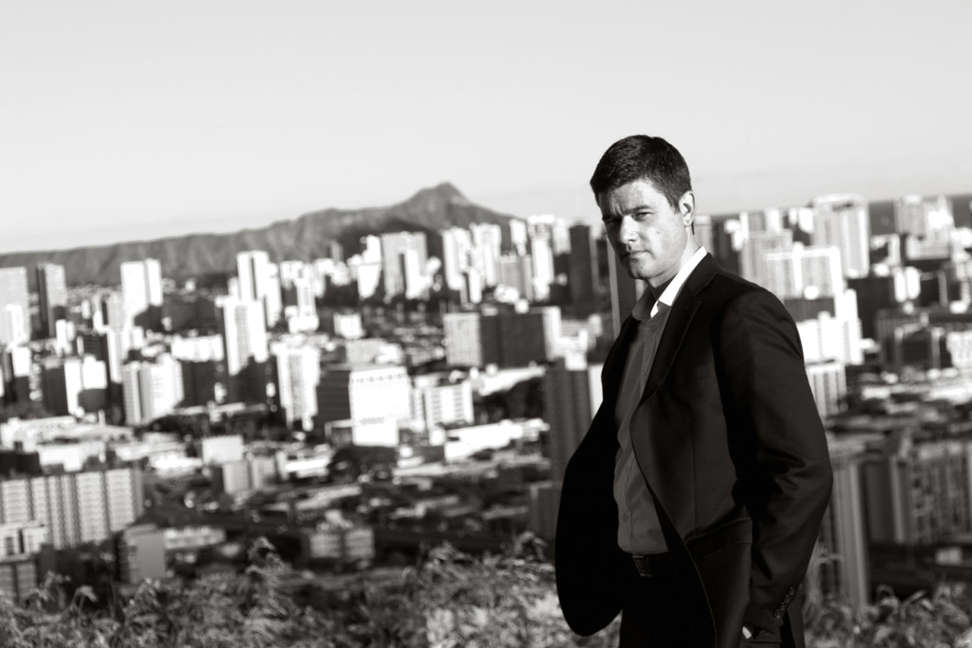 Portrait Handsome Blackandwhite Suit Diamondhead People And Places The Color Of Business