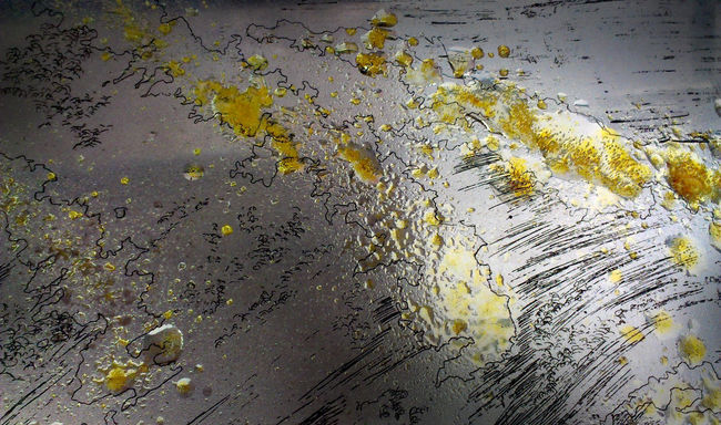 Colophony Art And Craft Close-up Engraving Etching Gravure Plate Printmaking Rosin Yellow Zinc Zinc Plate