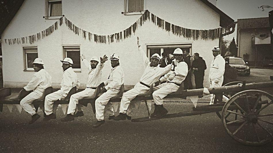 Faschingsumzug in Hosskirch - wir waren die Bergbauarbeiter 🎭 Glück Auf