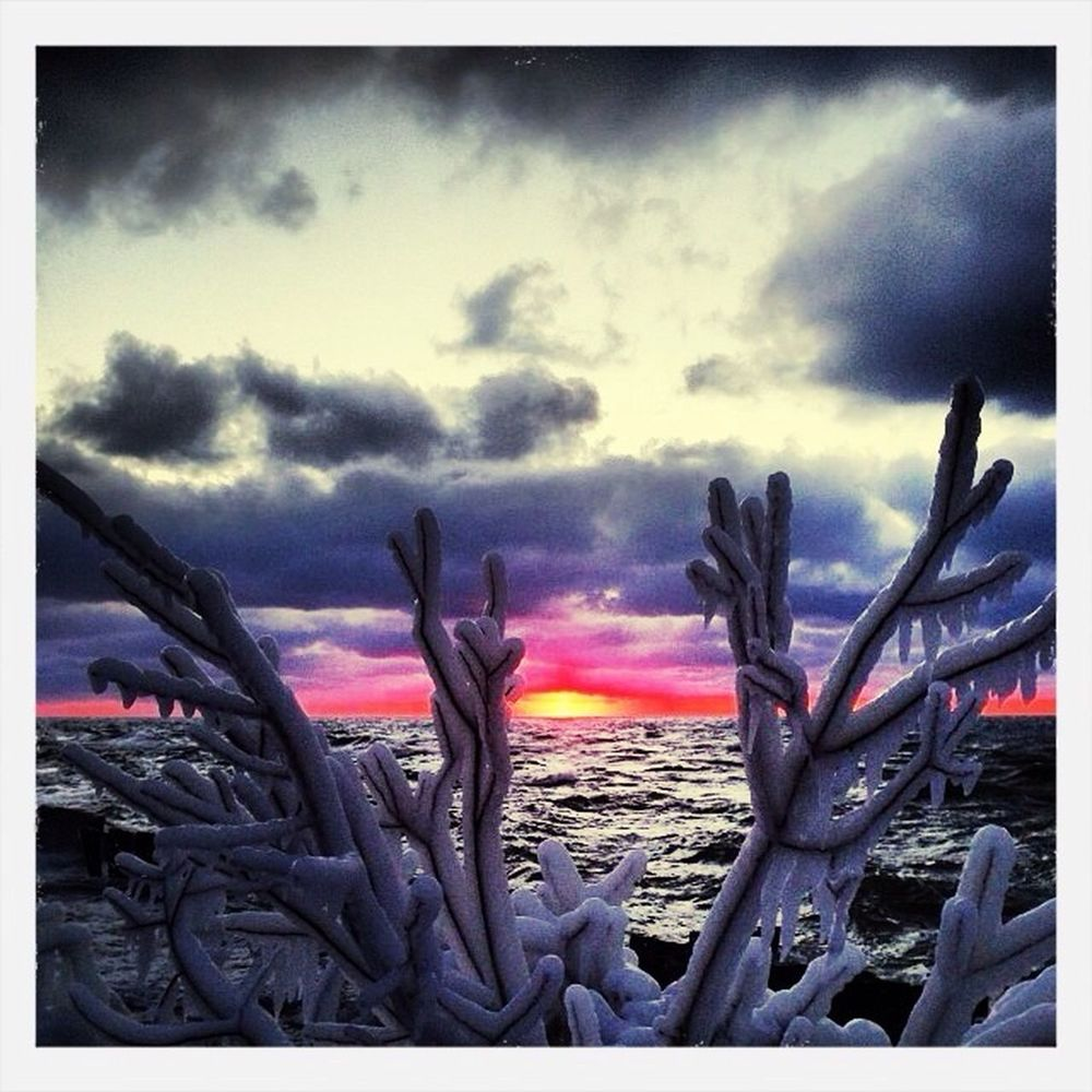 Sunset on the lake today MichiganLake HuronOscodaPure Michigan