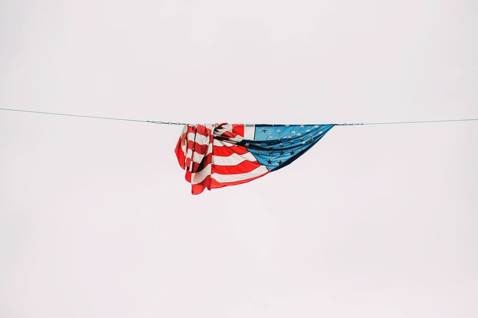 Beautiful stock photos of 4th of july, American Flag, Clear Sky, Copy Space, Day