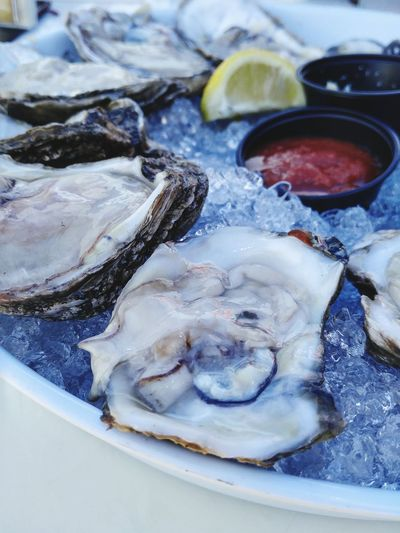 Happy Mother's Day! I finally got oysters- awesome ❤ Oyster  Raw Bar Oysterbar Oysters On The Half Shell Stuart, Fl Shrimpers Oyster Bar The Shop Around The Corner Christinemargaret