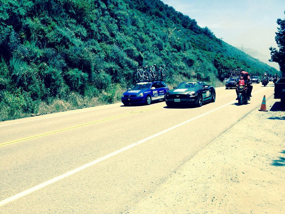 Amgen Tour Bicycle Race Highway 1 Big Sur, Ca. Lucky Me