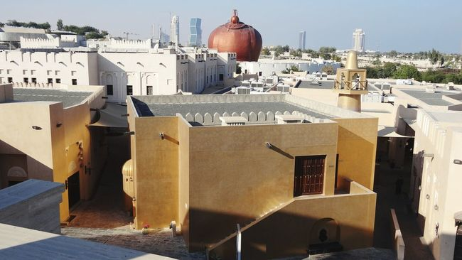 Seeing The Sights In Doha Qatar Katara Village Different Perspective Qatar Doha Mosque Golden Mosque