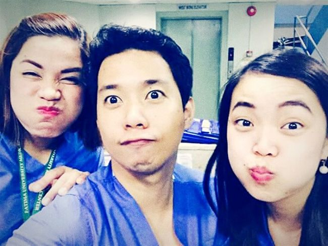 Self Portrait Around The World My best wacky photo with my co-nurses.. 😜 Nurse's life is though but when you are with your friends everything will be fine, no stress and no worries.. Nurseslife