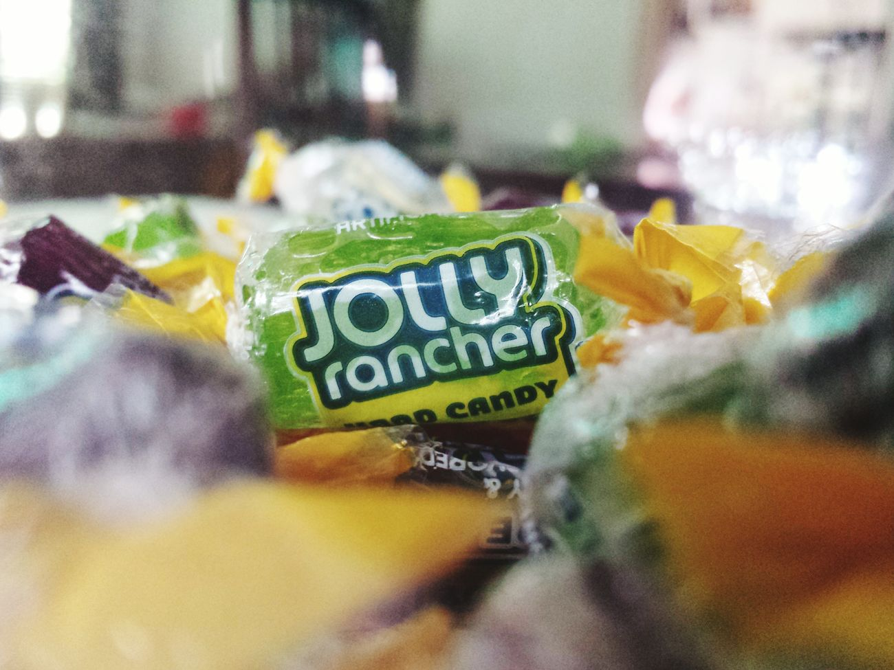 guilty pleasure. NotAnAd Candy Jolly Rancher Green Glass