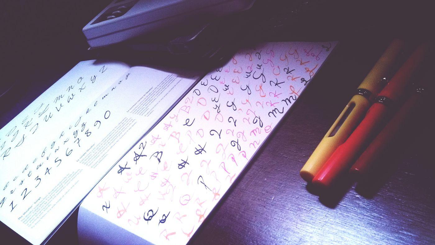 The Sheaffer Script. Having fun!! Fun Writing
