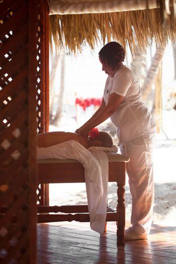 Back Beach Beauty Spa Female Girl Massage Massagist Recreation  Relax Salon Skincare Spa Summer Therapist Therapy Treatment Vertical Wellness Woman
