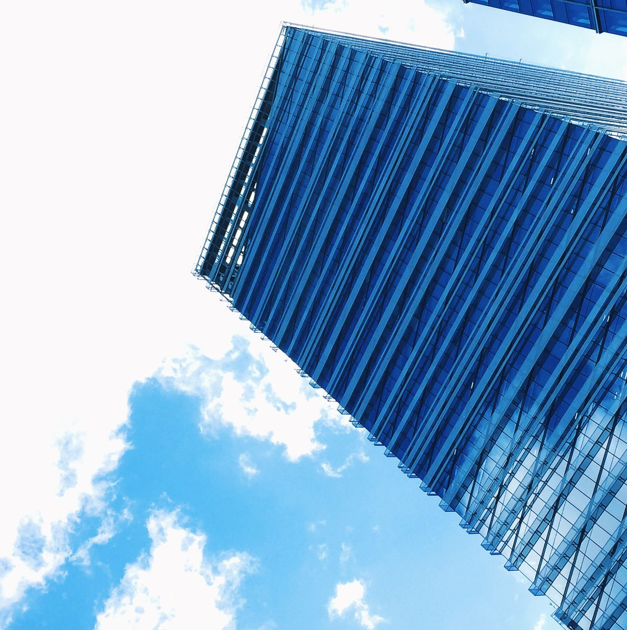 Blue Skies... 👌🏼 Low Angle View Sky Blue Architecture Building Exterior Cloud - Sky Built Structure No People Day Outdoors Skyscraper Office Block