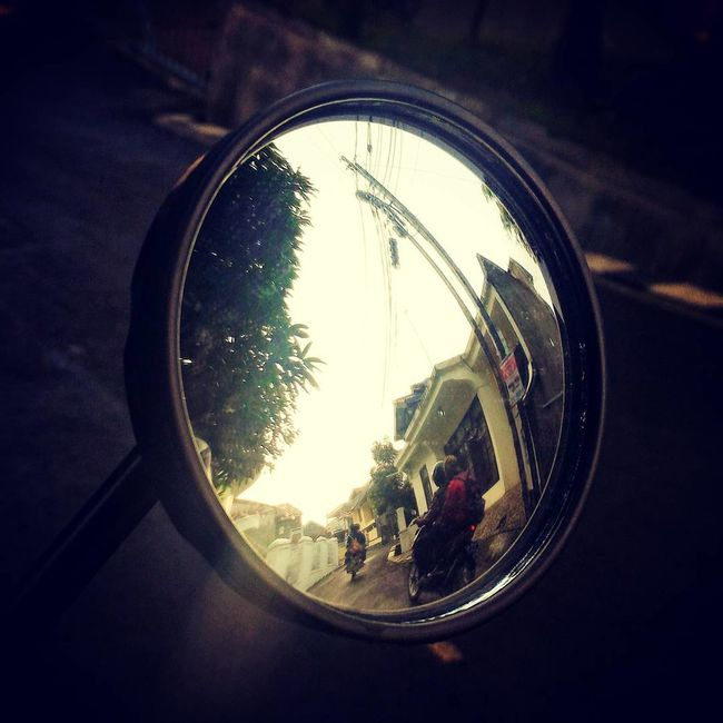 People And Places Reflection Mirror Picture Taking Photo Transportation Street Motorcycle Photography Group Photo EyeEm Indonesia Eyeemphoto Hello World Indonesian Bandung Morning Good Morning Good Morning World!