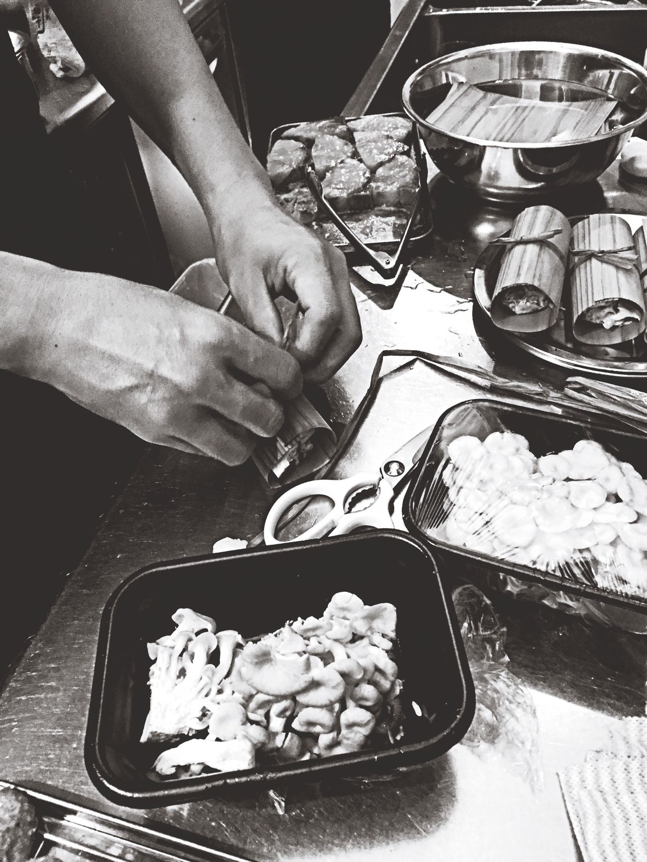 Food Cooking Monochrome Black&white