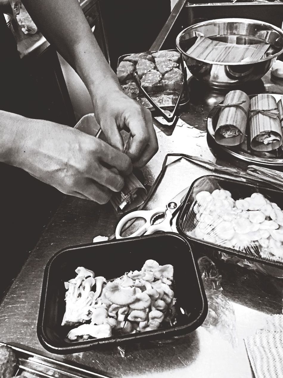 Food Cooking Monochrome Black&white