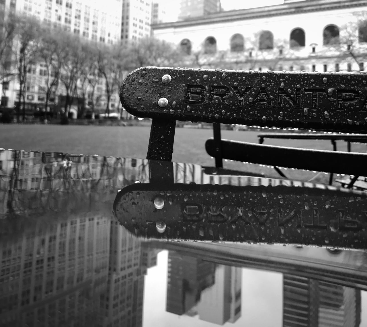 Water Building Exterior Day No People Outdoors City Close-up TheMinimals (less Edit Juxt Photography) Puddleography Blackandwhite Rainy Season Reflection