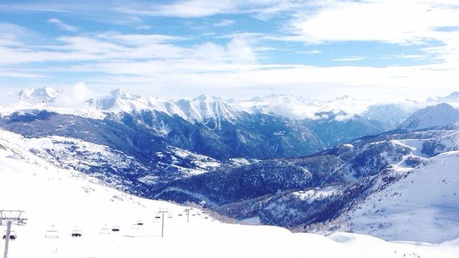 Mountains Serre Chevalier  Snow Sun Winter Cold