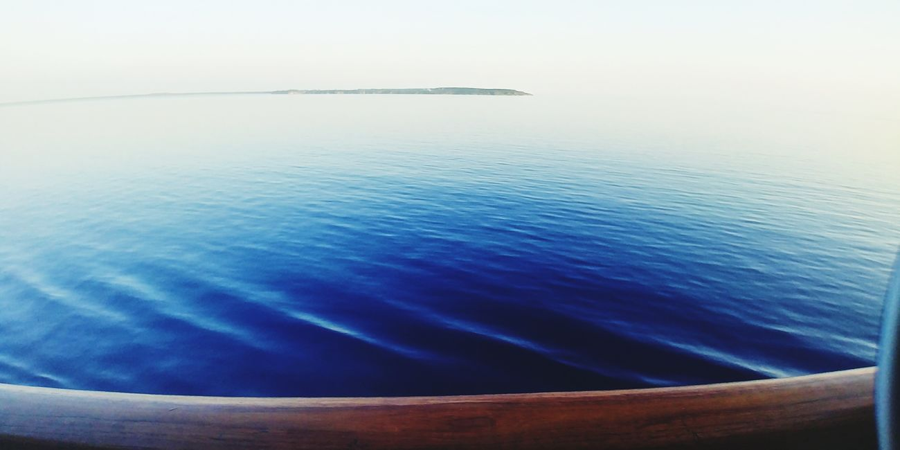 Water Tranquility Sea Blue Landscape Beauty In Nature No People Fog Nature Day Sunlight Scenics Sky Outdoors