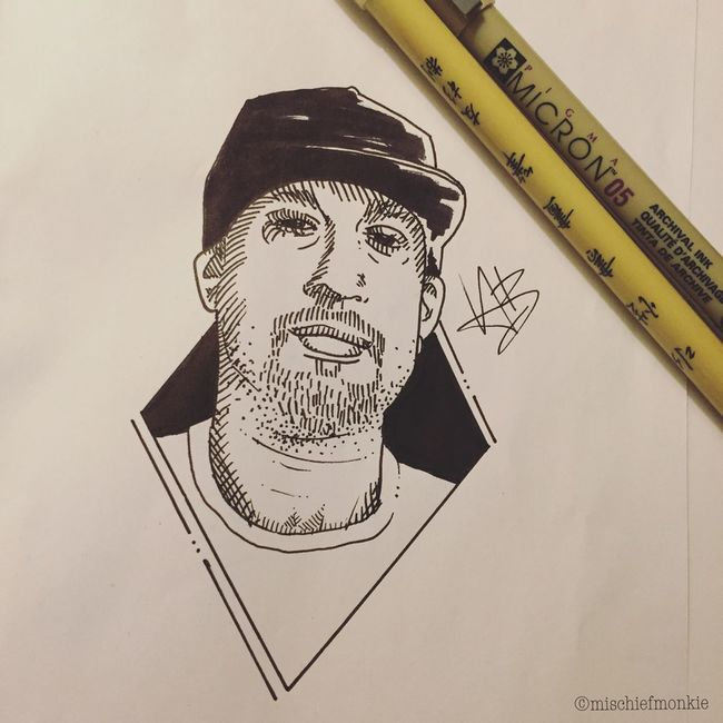 Late night sketches. Drawing Cypresshill Breal Göteborg, Sweden