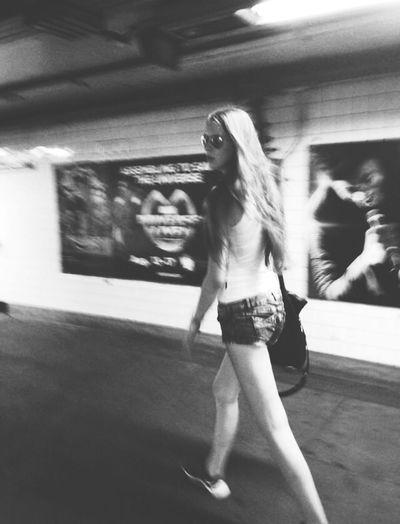 NYC Subway Walking Around Hi! Enjoying Life