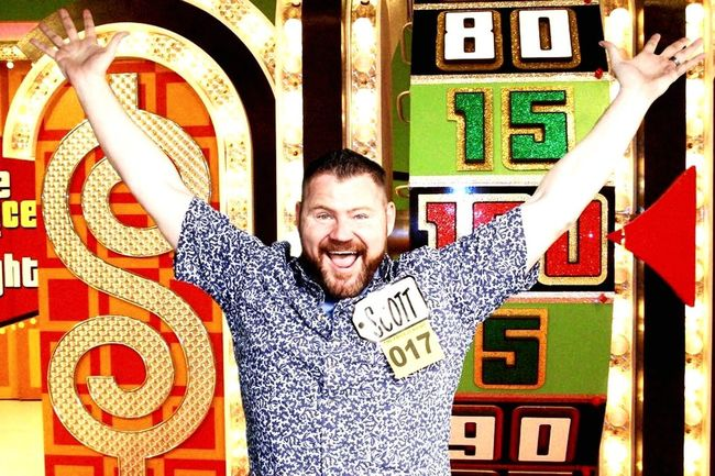 My boss was on The Price is Right, he won a car, lucky him. Priceless